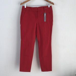 NWT Ann Taylor LOFT red Marisa Skinny Pants -Sz 6P